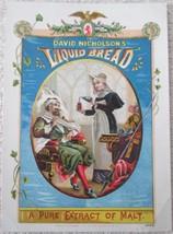 David Nicholson's Liquid Bread Malt Beverage trade card 1880-90s - $14.99