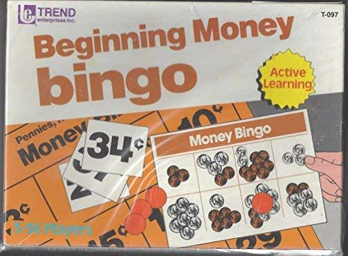 Beginning Money Bingo Active Learning Educational Game for 3 - 36 players