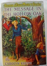 Nancy Drew The Message in the Hollow Oak no.12 1941B-16 hcdj Carolyn Keene  - $70.00