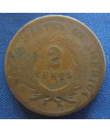 1867 Two-Cent Piece Coin - Civil War Era - (sku#4885) - $12.50