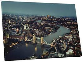 "Pingo World 0824QGO536S ""London UK Sunset Skyline"" Gallery Wrapped Canvas Wall A - $47.47"