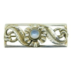 Sterling Silver Arts and Crafts Handwrought Genuine Natural Moonstone Pi... - $195.00