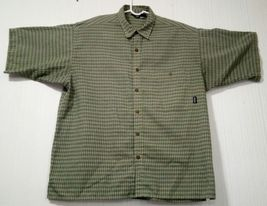 Patagonia Men's Green L short-sleeve button-down plaid Breast Pocket shirt image 3