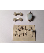 Lot of 3 Pearl and other Vintage Antique Cufflink 1800s Early 1900s Cuff... - $54.45