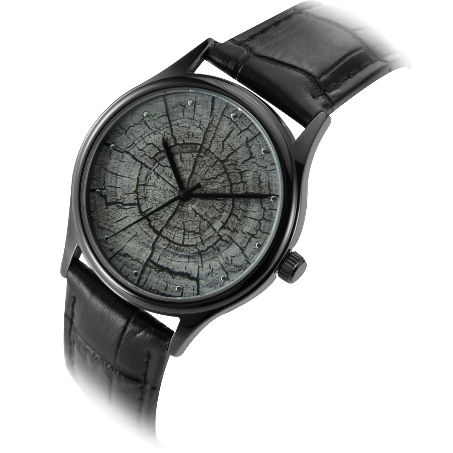 Tree Ring Watch Black Unisex Free Shipping Worldwide