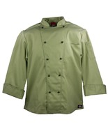 NWT Dickies CW070302 CELERY Green Executive Chef Coat 34-54 Twill Stretch - $18.90