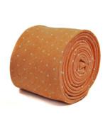 Frederick Thomas peach/orange spotted tie 100% cotton linen FT2177 RRP £... - $18.37