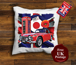 Triumph TR4 Cushion Cover, Triumph TR4, Union Jack, Mod, Target, Poppy, Cushion - $9.01+