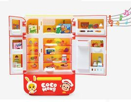 Zeus Toys Coco Mong Melody Light Chef Refrigerator with Drinks Kitchen Roleplay image 3