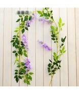 2M Wisteria Artificial Flowers Vine Garland Wedding Arch Decoration #PURPLE - $16.99