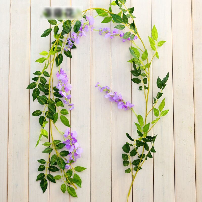 Primary image for 2M Wisteria Artificial Flowers Vine Garland Wedding Arch Decoration #PURPLE