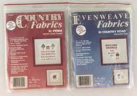 EvenWeave and Country Fabrics Lot of 2 Hunter Green Square and Chocolate... - $11.83