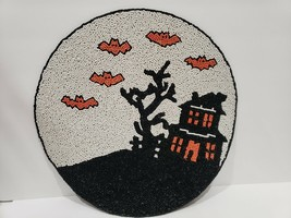 (1) Cynthia Rowley HALLOWEEN HAUNTED HOUSE BEADED PLACEMAT CHARGER  - $32.99