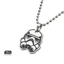 Disney Star Wars Stainless Steel Rebels Stormtrooper Kids Pendant with C... - $21.00