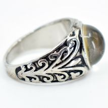 Vintage Inspired Silver & Black Painted Color Changing Round Cabochon Mood Ring image 3