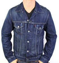 Levi's Men's Classic Cotton Button Up Blue Denim Jeans Jacket 707970013 Size XL