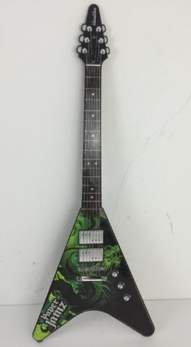 jamz series 2 style 10 flying v green rock fender guitar strap