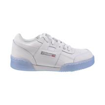Reebok Workout Plus Big Kids' Shoes White-Carbon-Blue DV4425 - $60.00
