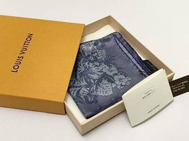 LOUIS VUITTON Handkerchief Botanical Pattern Pocket Scarf Stole - $396.00