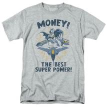 Batman money t shirt superfriends retro 80s cartoon dc grey graphic tee dco638 thumb200