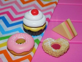 """18"""" Doll Bakery Cupcake Donut Cookies lot Sandwich American Girl Our Generation - $9.55"""