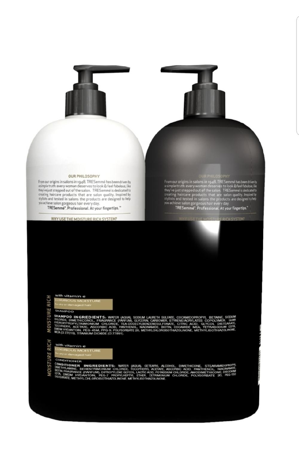 TRESemme Moisture Rich Luxurious Shampoo & Conditioner Value Pack 2/40 oz