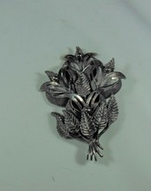 Botticelli Dark Silver Tone Bouquet Pin Brooch - $22.76