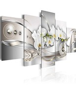 Vibrant Flower Pearl Orchids Canvas Wall Art Modern Decor 5 Pieces Print... - $45.52