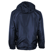 Men's Water Resistant Fleece Lined Hooded Windbreaker Rain Jacket NEW W/ DEFECT image 2