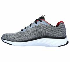 Skechers Gray shoes Men Memory Foam Walk Train Sport Comfort Casual Woven 52758 image 2