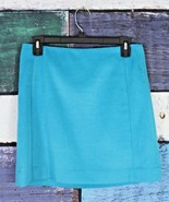 The Limited 2 Turquoise Aqua Blue Bold Wool Blend Straight Pencil Skirt ... - $24.74