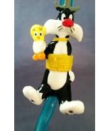 Looney Tunes Sylvester Tweety Bird Crazy Sipper Straw Kids Toy Applause ... - $5.89