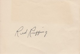 Red Ruffing (d. 1986) Signed Autographed Vintage Signature Page - $79.99