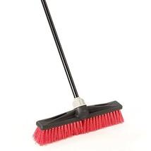 "O-Cedar Professional 18"" Rough-Surface Push Broom, Red - $28.38"