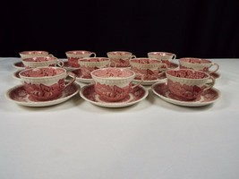 Staffordshire Adams England Teacups and Saucers - $46.75