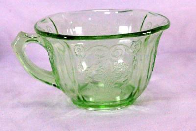 Indiana Glass 1932 Lorain Green Cup