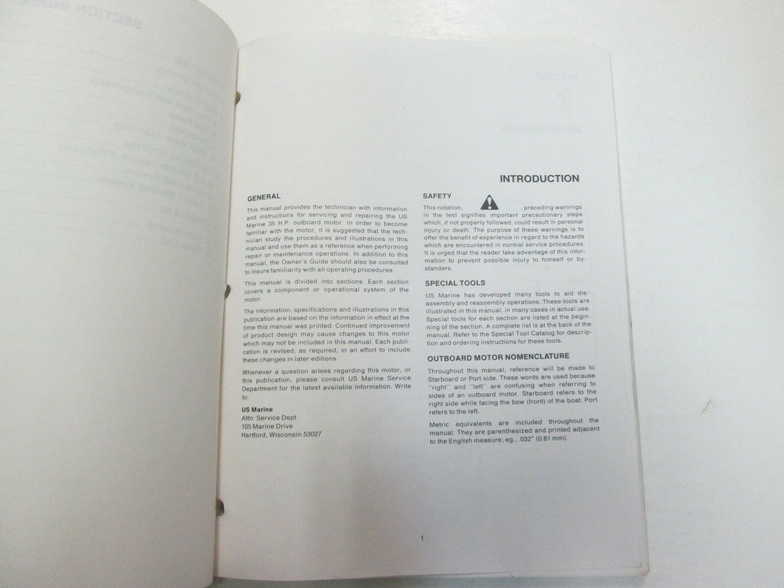 1984 1985 1986 Force Outboards 35 HP Outboard Motors Service Manual STAIN WORN** image 3