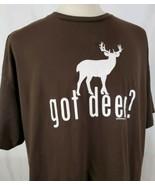 Got Deer? Coed Sportswear T-Shirt XXL Brown Cotton Hunting Milwaukee Bucks  - $15.29