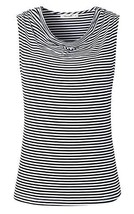 HieasyFit Women's Stripe Cowl-Neck Ruched Draped Sleeveless Tank Tops Bl... - $15.09