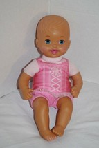 "Mattel LITTLE MOMMY BABY DOLL 12"" Cloth Body Pink Tutu Blue Eyes Soft To... - $16.37"