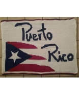 Puerto Rico Inspired Handmade Crochet Lap Blanket (Killeen, TX) - $150.00