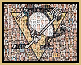 Pittsburgh Penguins Mosaic Print Art Created Using the Greatest Penguin ... - $42.00+