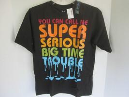 Boys Childrens Place Black Graphic T-Shirt Size L NWT - $6.79