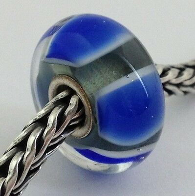 Primary image for Authentic Trollbeads Blue Symmetry (A) Charm 61411, New