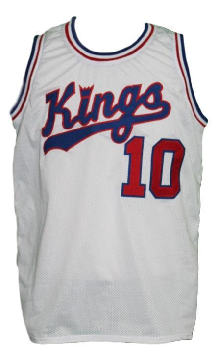 Nate archibald  10 cincinnati royals kings custom basketball jersey white   1