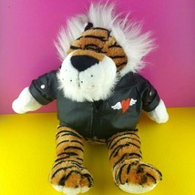 "Dan Dee Collectors Choice Plush Tiger Faux Leather Love Jacket Stuffed 18"" #A34 - $21.77"