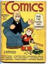 The Comics #7 1938-Dell-Tom Mix-Wash Tubbs-Rare Golden-Age comic - $297.06
