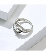 Sterling Silver .925 Adorable Sideways Onyx Heart Promise Ring Size 6 2g... - $19.99