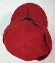 Stormy Kromer Cap Red Black Sz Wool Made in USA Hat Baseball Engineer 6 7/8 image 7