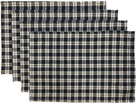 "Set of 4, 100% Cotton Gingham Check  Placemats Size: 13"" x 19"". - $14.99"